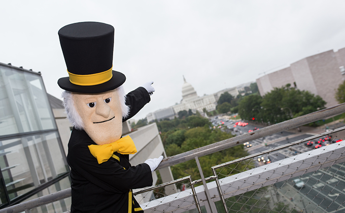 Photo of the Demon Deacon in Washington, D.C.